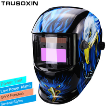 Pro Sexing 4 arc sensor solar auto darken/shading grinding tig big view welding helmet/welder goggle/mask/cap free shipping