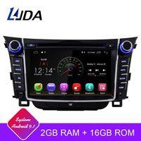 LJDA Android 9.1 Car dvd player for Hyundai I30 Elantra GT 2012 2013 2014 2015 2016 Car Radio gps navigation stereo multimedia