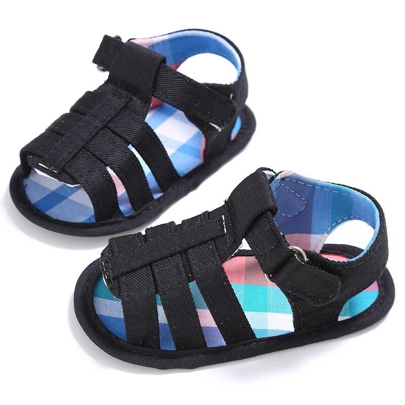 Verão sapatos de bebê sola infantil meninos sapatos de lona antiderrapante calçados primeiros caminhantes 0-18 meses novo