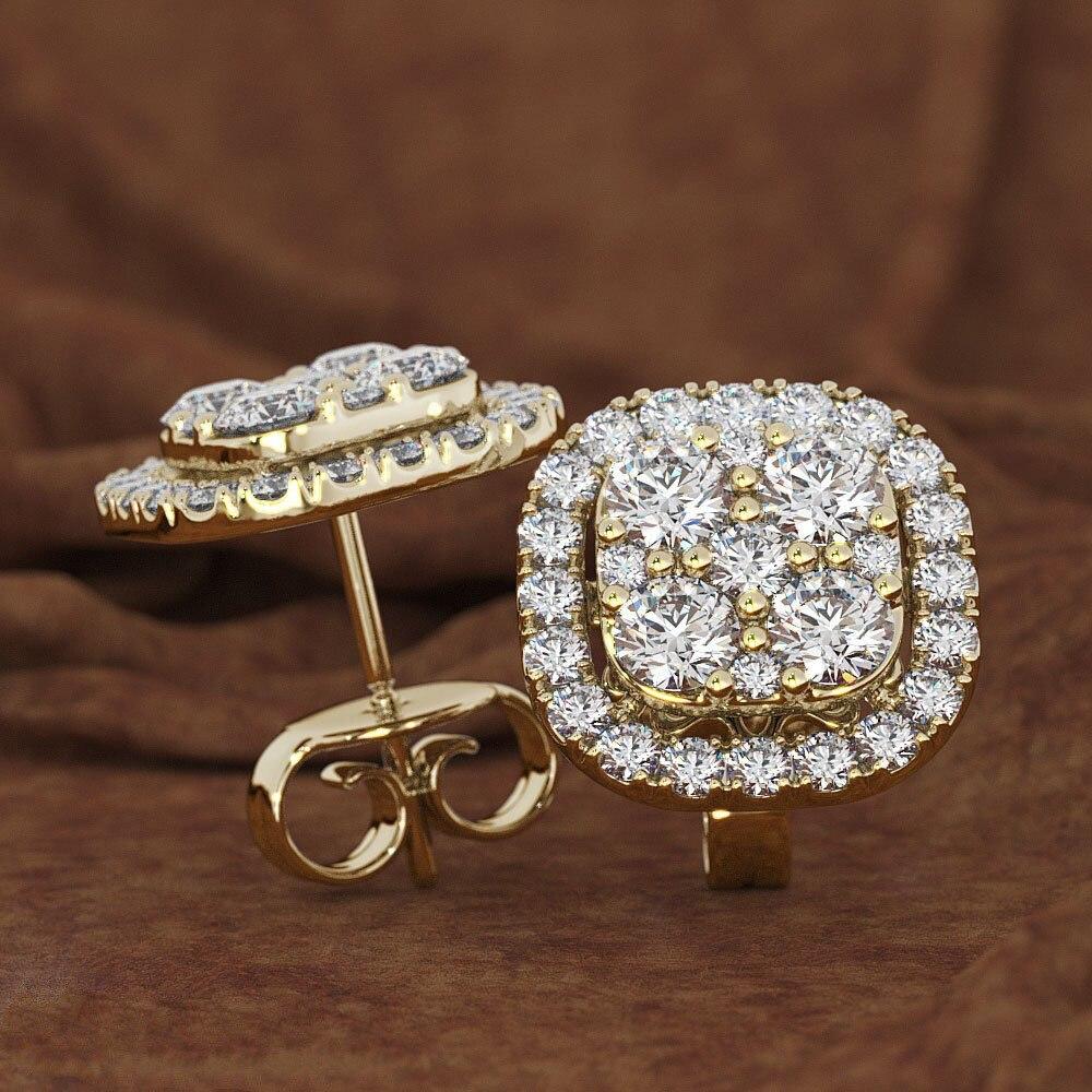 Square Full 14K Rose Gold Jewelry Eight Hearts and Eight Arrows Garnet 14K gold Peridot Diamond Stud Earring Gemstone orecchini