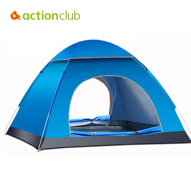 Actionclub Ultralight 3-4 Persons Outdoor Tent Waterproof Hiking Camping Beach Shelter 2 Person Sturdy Tent Glass Fiber Rod