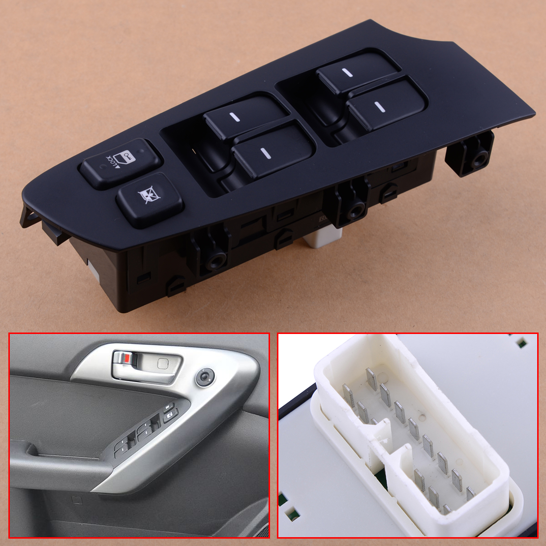 CITALL 14 Pin Car Power Window Switch 935701M100WK LH Left Door Driver Side fit for KIA Forte Cerato 2010 2011 2012 2013
