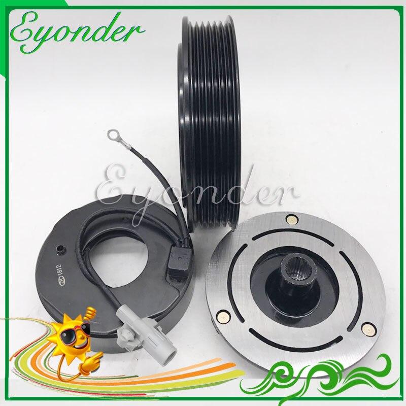 AC A/C Air Conditoning Compressor Magnetic Electromagnetic Clutch PV6 for CHRYSLER VOYAGER DODGE CARAVAN 2.4L L4 447220 3445|Fans & Kits| |  - title=