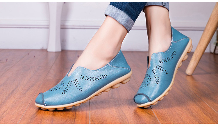 AH 1866-1-2019 Summer Women Loafers Genuine Leather Woman Shoes-10