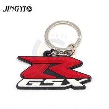 FOR Suzuki GSXR GSX-R 600 750 K6 7 8  Stylish Soft Rubber Motorcycle Decorative Accessories Moto Keychian Key Chain 3D Key Ring