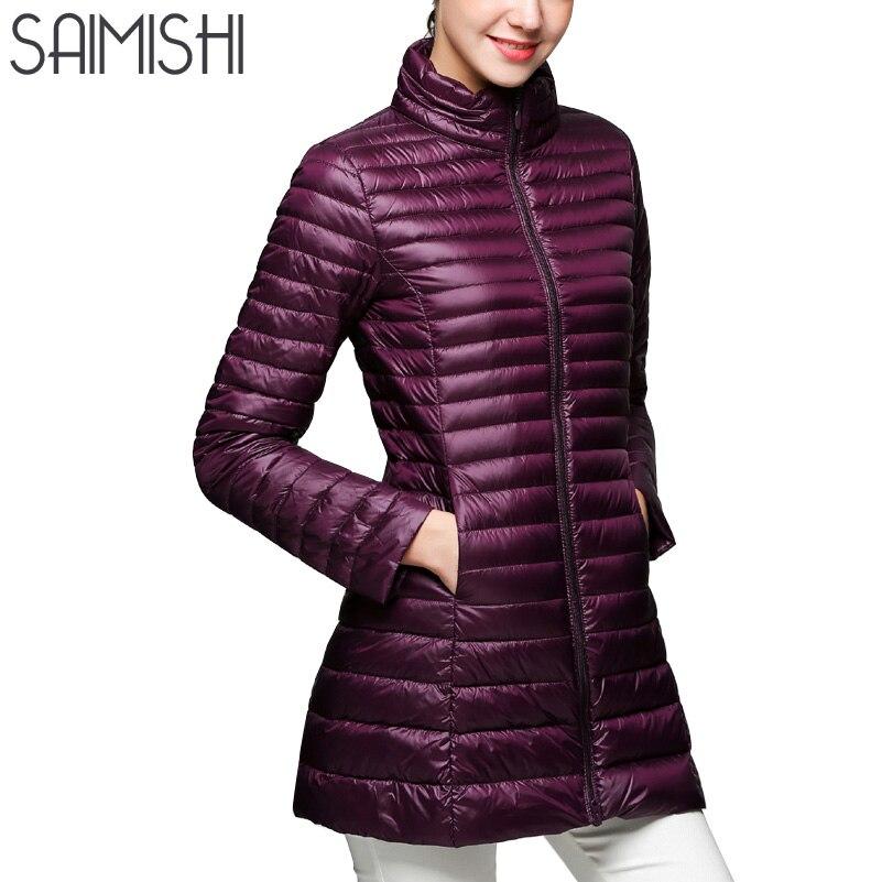 Snow Winter Jacket Women Fashion Womens 90 % White Duck Down Jackets Ultra Light Zipper Coats Slim Outwear Parka Size 4XL