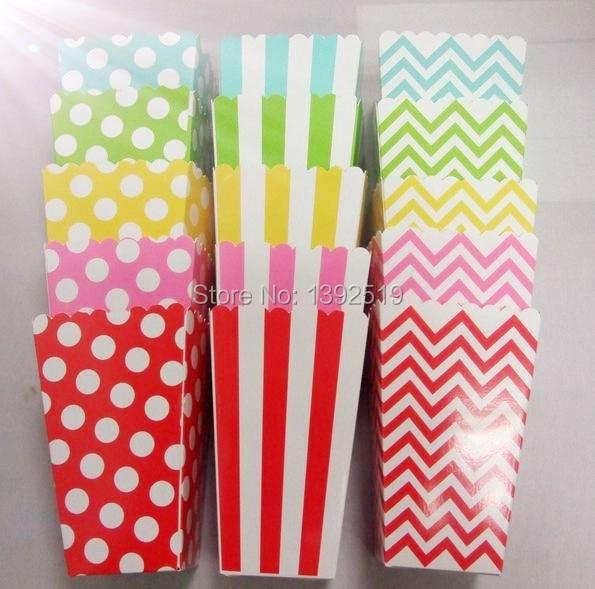 Aliexpress.com : Buy Free Shipping 360pcs Striped& Dot Popcorn Box ...