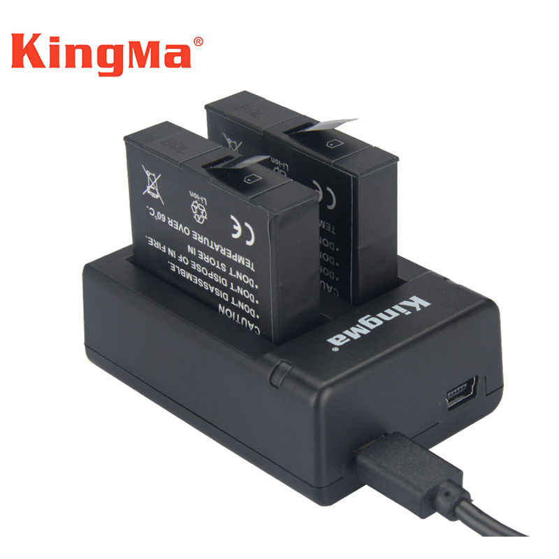 2pcs 1160mah Rechargeable Batteries+Dual Battery Charger Charging Battery For Xiaomi Mijia Camera MiJia Mini Sports camcorders