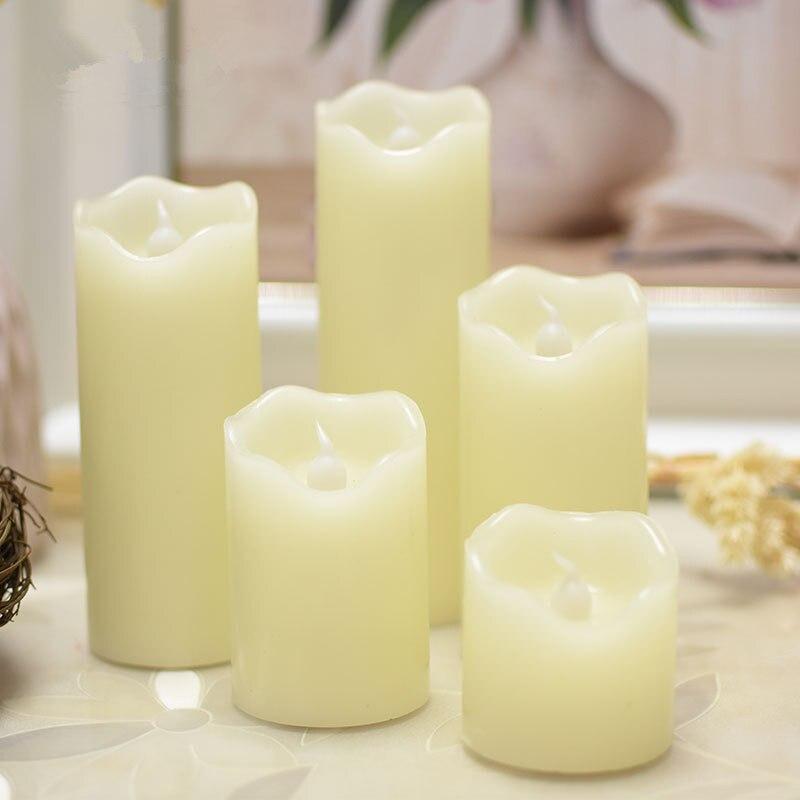Волна рот светодиодный электронные свечи зажигают свечи Свадебная вечеринка на день рождения предложение
