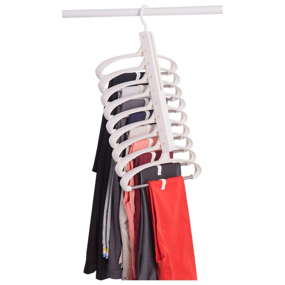 Deux façons utilisation multifonction magique tissu pantalon écharpe cintre innovant cintre pour garde-robe DQ1708-1