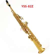 High quality Soprano saxophone / wind Top music instruments YSS-82Z B flat one sax G key Goid Lacquer UPS / DHL shipping