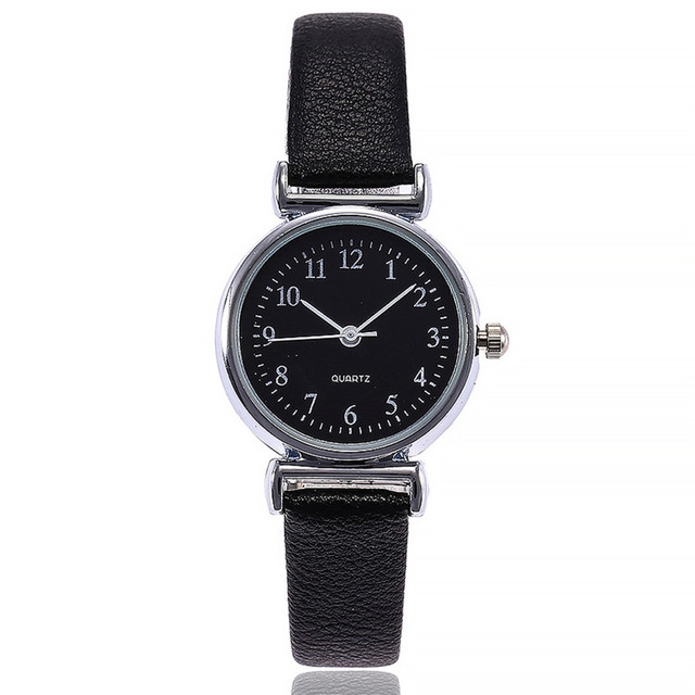 Small Dial Leather Band Analog Movement Wrist Watch 3
