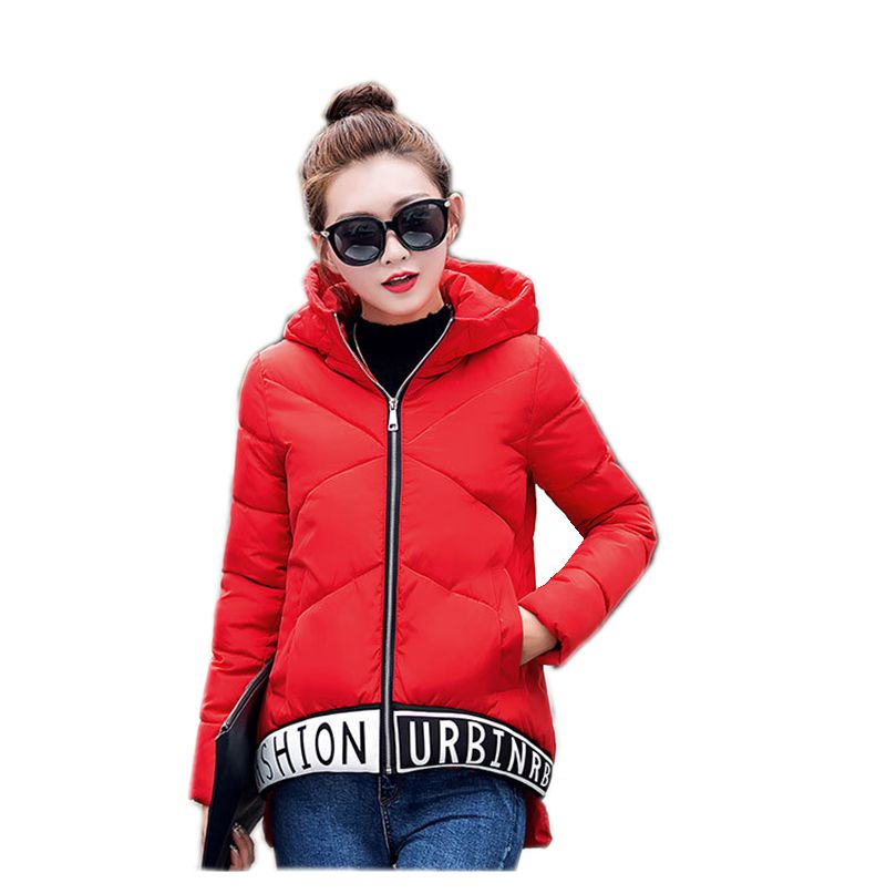 New Winter Fashion Women Down jacket Hooded Thicken Super warm Long sleeve Irregular Coat Leisure Loose