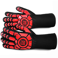 Free Shipping Winter Warm Keeping And High Temperature Resistant Safety Glove Palm Reinforced Heat Insulated Working