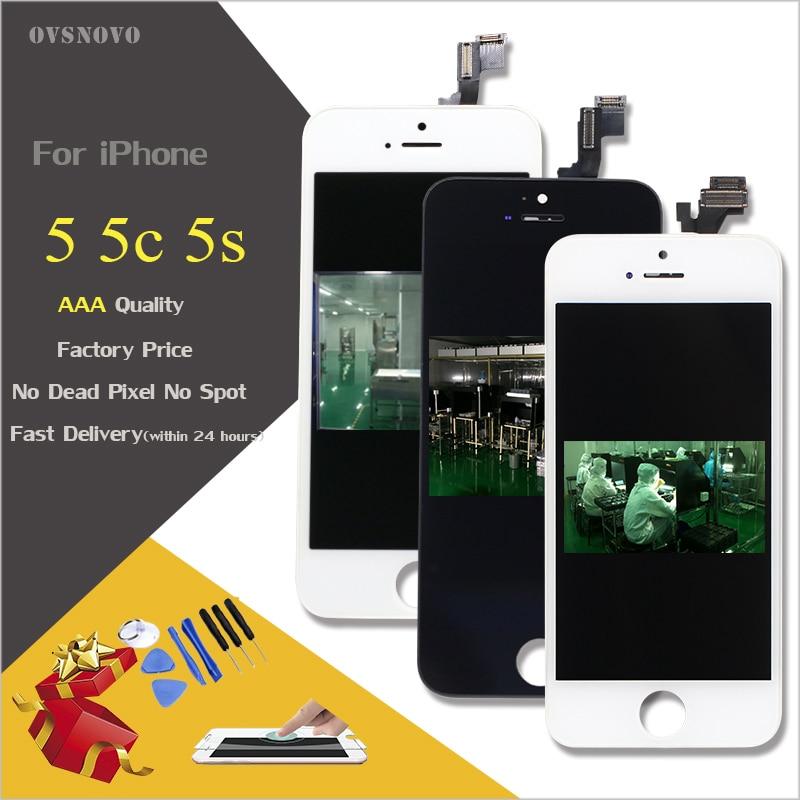 Pantalla LCD de alta calidad para iPhone 5S 6 pantalla táctil digitizador asamblea para iPhone5 5c 6 S 7 completa pantalla reemplazo