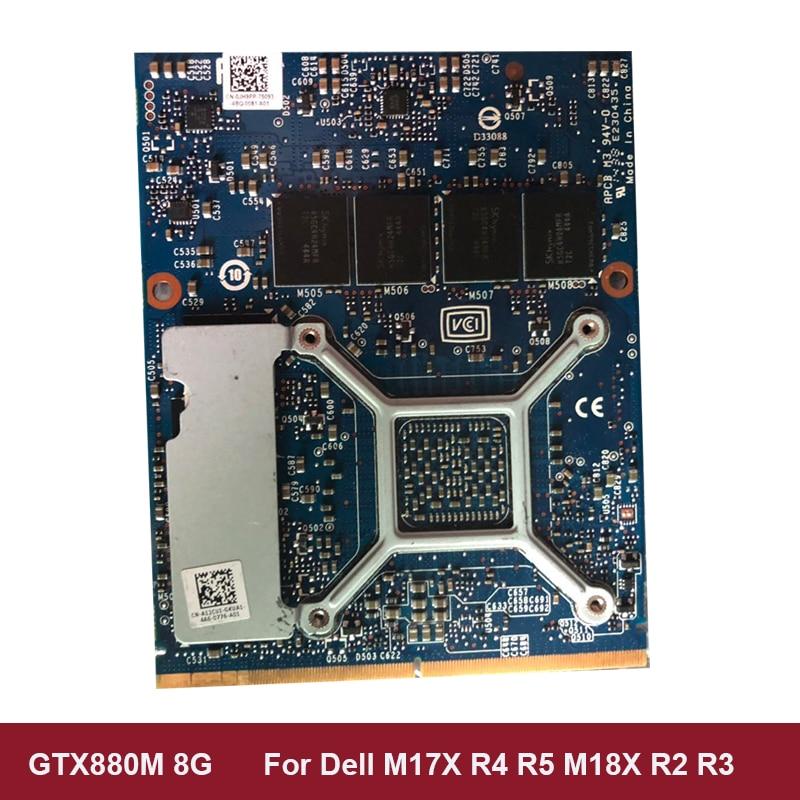 vga וידאו כרטיס GTX880M GTX 880M 8GB GDDR5 וידאו VGA כרטיס גרפי וידאו CardFor DELL M17x R4 R5 M18X R2 R3 100% עובדים במשרה מלאה נבדק (2)