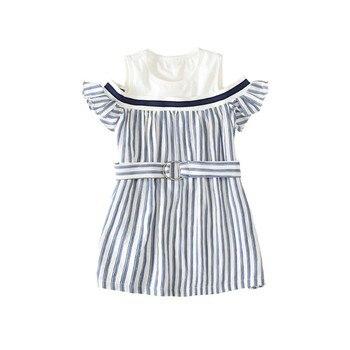 Vestido Veraniego De Rayas Para Niños De 3 A 15 Años 2019