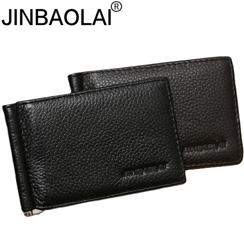 Slim Famous Brand Handy Mini Genuine Leather Men Wallet Purse Thin Male Bag With Clamp For Money Clip Walets Cuzdan Short Vallet pu leather wallet men luxury famous brand designer coffee money clip open clamp clip carteira magica bid083 pm49