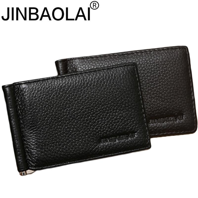 Slim Genuine Leather Men Wallet Purse Thin Male Bag For Men Money Clip Walet Cuzdan Vallet Kashelek Portomonee Portmann Kashelki