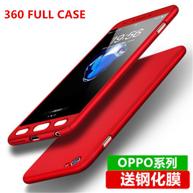 For OPPO A73 F5 A83 A79 Luxury 360 Degree Full Cover Phone Case For OPPO A53 A57 A59 A77 F3 A37 A33 With Glass Silicone Coque image