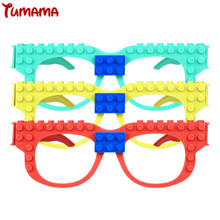 Tumama New Glasses Blocks Baseplate Compatible with Legoed Minecrafted DIY Educational Toys Funny Glasses Frame Brick Base Plate