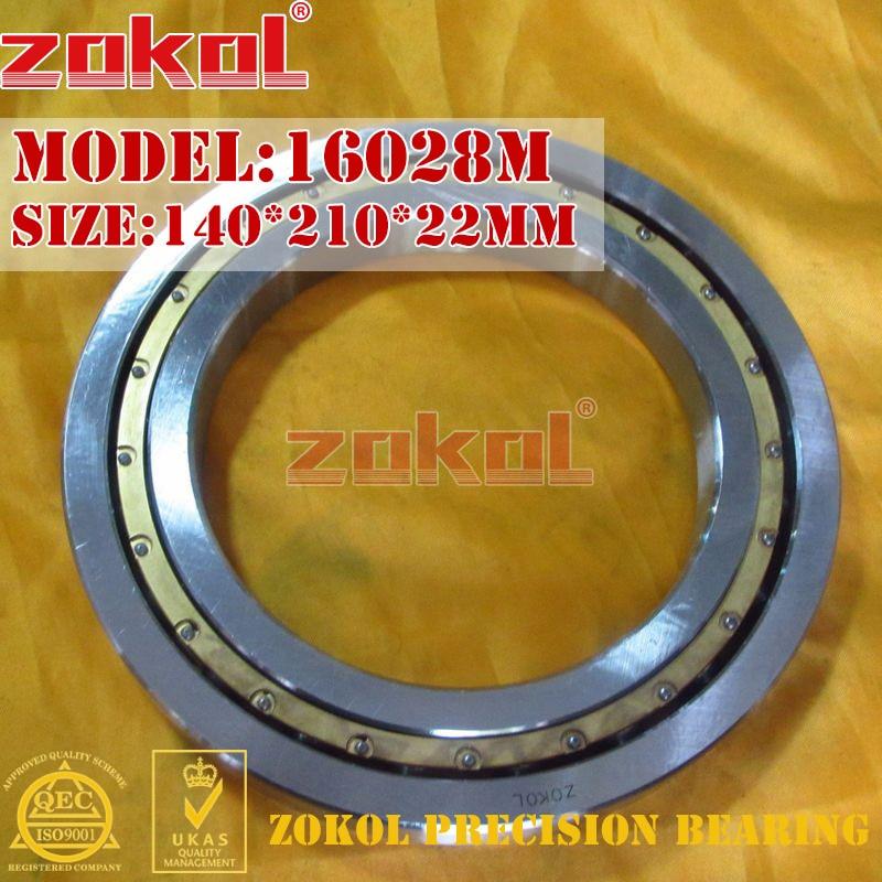 ZOKOL bearing 16028M 7000128H Deep Groove ball bearing 140*210*22mm zokol bearing 6318 318 deep groove ball bearing 90 190 43mm