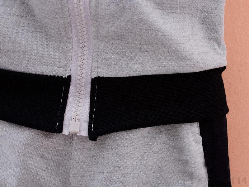 HTB1LY0SlrsrBKNjSZFpq6AXhFXai - 2019 spring Kids Clothes set Fashion Casual Letter Gray Zipper Hoodie+ Pants Baby Boys 2pcs Sets girl fall clothes Children Suit