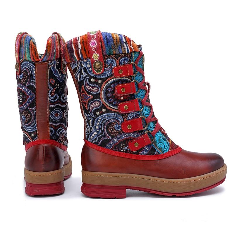 nuovi prodotti caldi vari design vendite calde Qualità Lavoro Cuoio A Da Donne Breve Mid Stivali Mano ...