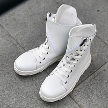 3e91e7d7033a5 Chic Mens Shoes encaje Hip Hop danza cremallera Sneakeres Casual botines  Punk E36