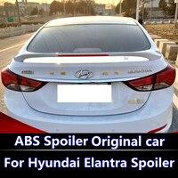 For Hyundai Elantra 2012 2015 Spoiler Spoiler with brake light ABS Material Car Rear Wing Elantra Primer Color Rear Spoiler