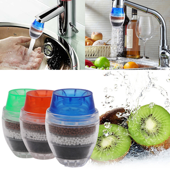 Mini Tap Water Purifier with Multilayer Filtration for Kitchen Faucet Filled with Activated Carbon