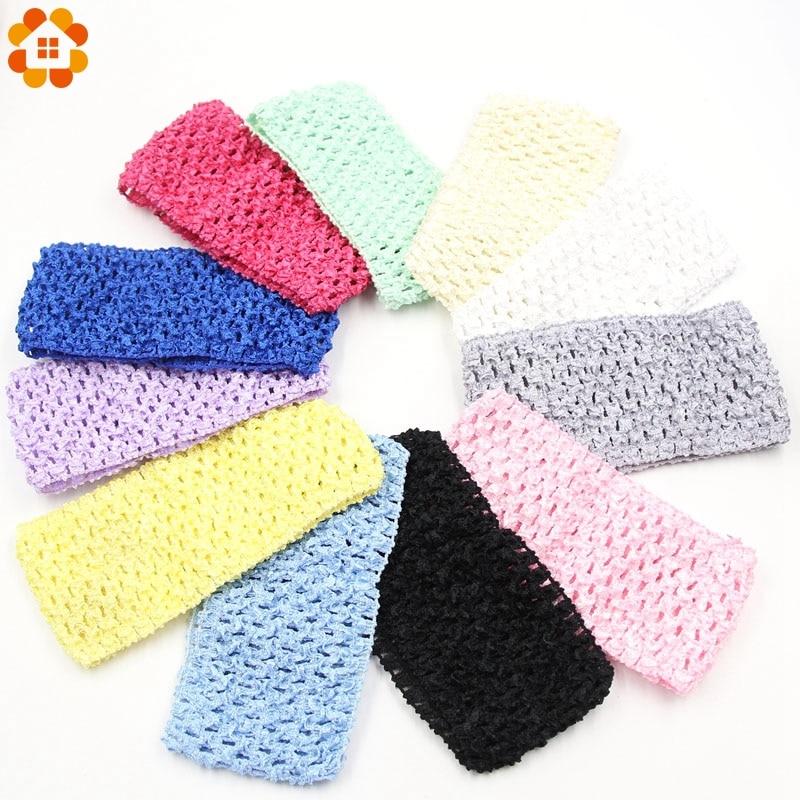1pc 15x7cm Tulle Tutu Crochet Elastic Knit Headbands