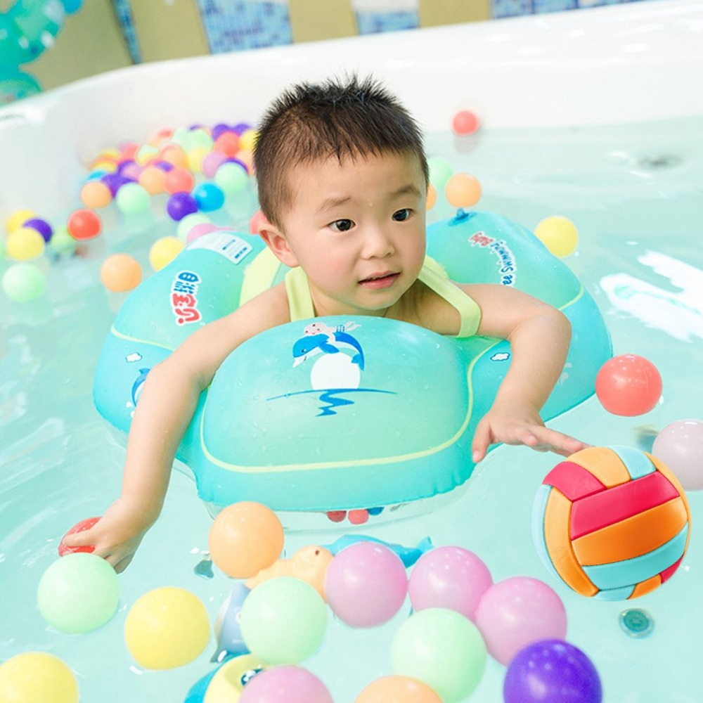 Free Swimming Baby Inflatable Swim Ring Infant Armpit Floating Kids Swim Pool Accessories Inflatable Bathing Ring Raft
