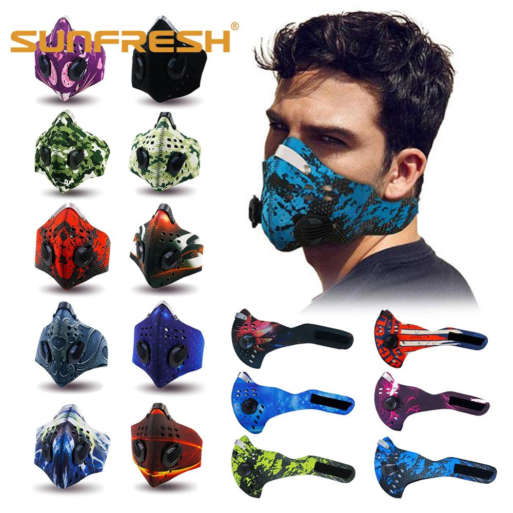 Sport маска N99 Pm2.5 Mouth Anti Pollution Sport Dust Maske Pm2.5 Antipollution Mouth Face Mask Filter Cycling Motorcycle Mask
