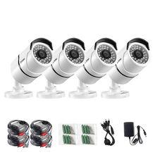 ZOSI 4 teile/los 1080 p HD TVI CCTV Sicherheit Kameras, 100ft Nachtsicht, Outdoor Whetherproof Überwachung Kamera Kit