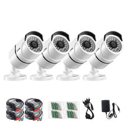ZOSI 4pcs/lot 1080p HD-TVI CCTV Security Cameras ,100ft Night Vision ,Outdoor Whetherproof Surveillance Camera Kit
