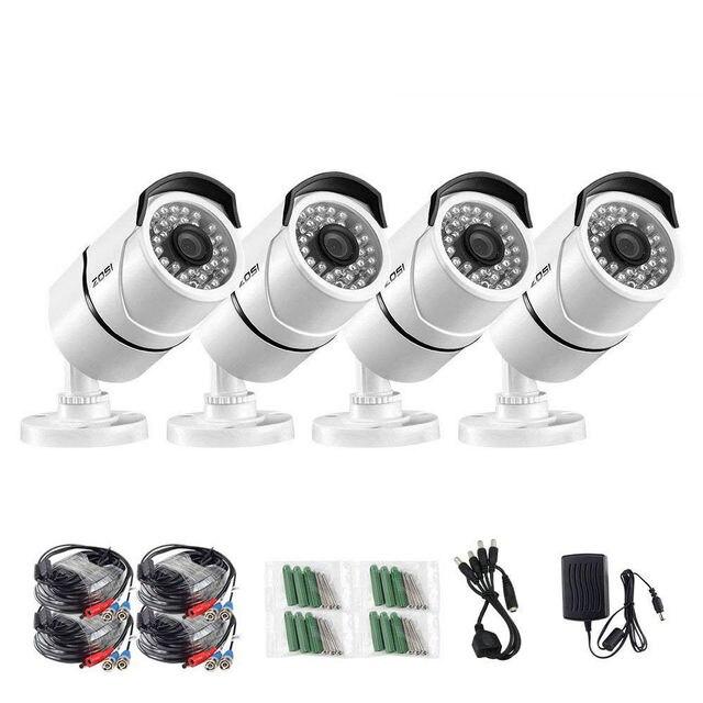 ZOSI 4pcs/lot 1080p HD TVI CCTV Security Cameras ,100ft Night Vision ,Outdoor Whetherproof Surveillance Camera Kit