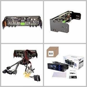 Image 5 - ALSEYE a 100L (B) جهاز تحكم بالمروحة للمراوح التبريد شاشة تعمل باللمس 6 قنوات جهاز تحكم في سرعة المروحة لمروحة 3pin 4pin