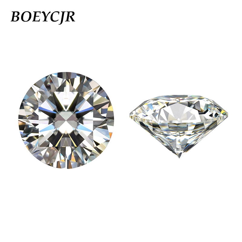 BOEYCJR 2ct 8mm F Color Round Brilliant Cut  Moissanite Loose Stone VVS1 Excellent Cut Jewelry Making Stone Engagement Ring