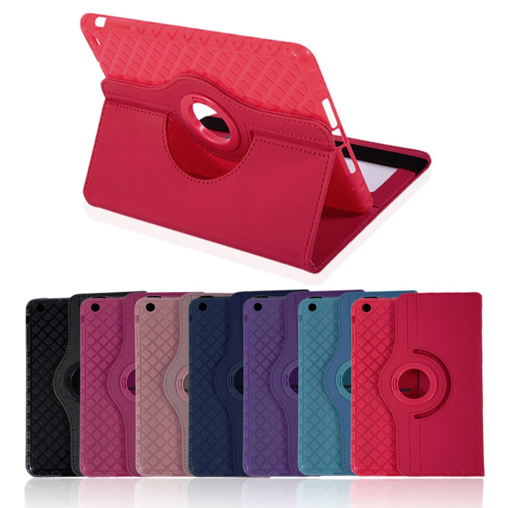 Super Thin 360 Degree Rotation PU Leather Tablet Cover Case Shockproof Tablet Protective Cover Suitable For iPad mini 1 2 3 4 new rotation 360 degree rotating leopard flip stand pu leather protective skin cover case for apple ipad mini 1 2 3 7 9 tablet