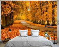 Autumn Natural Landscape Modern Wallpaper Roll 3D Photo Wallpapers Living Room Papel De Parede 3d Custom