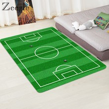 Modern Carpet 3D Football Area Carpet Rugs Flannel Rug Memory Foam Carpet Boys Kids Play Crawl Mat Big Carpets for Living Room(China)