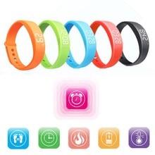 W5 inteligente muñequera pulsera inteligente podómetro sleep tracker termómetro inteligente muñequera rastreador de ejercicios de smart watch l3ef