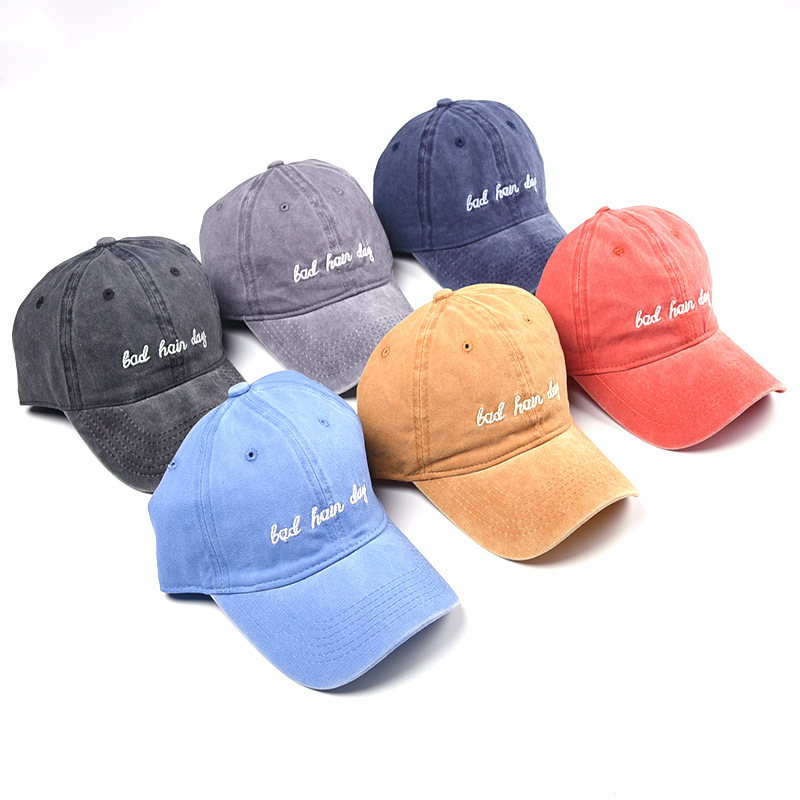 Men's Hats Radient Minanser Mens Washed Cotton Baseball Cap Letter Embroidery Womens Skateboard Soft Baseball Hats Men Dad Cap Hat Adjustable To Suit The PeopleS Convenience