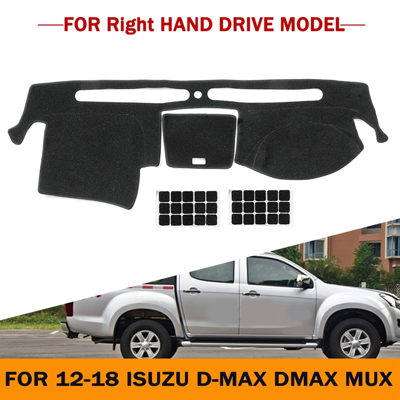 Autoleader Anti-Dirty Car Dashmat Dashboard Mat Dash Board Cover Pad For Right Hand Drive For Isuzu D-MAX DMAX MUX 2012-2018