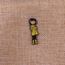 Coraline Bendy Doll esmalte Pin badge