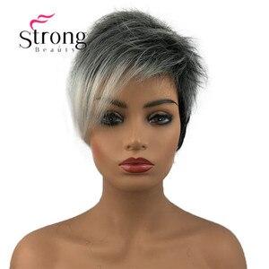 Image 2 - StrongBeauty peluca corta de pelo sintético para niña, con raíces oscuras, degradado