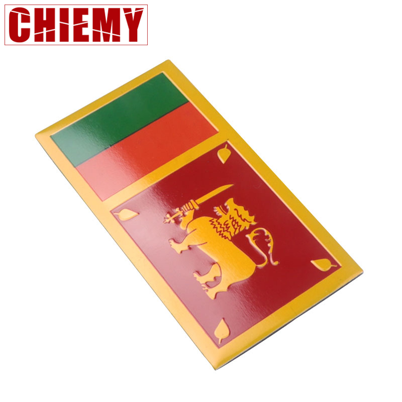 3D Car Styling Aluminum Sri Lanka Flag Badge Auto Body Front Emblem Stickers Motorcycle Automobile Decal Accessories