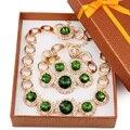 Moda na moda do casamento nigeriano beads africanos conjunto de jóias, Brincos de cristal para mulheres dubai conjunto de jóias acessórios do casamento