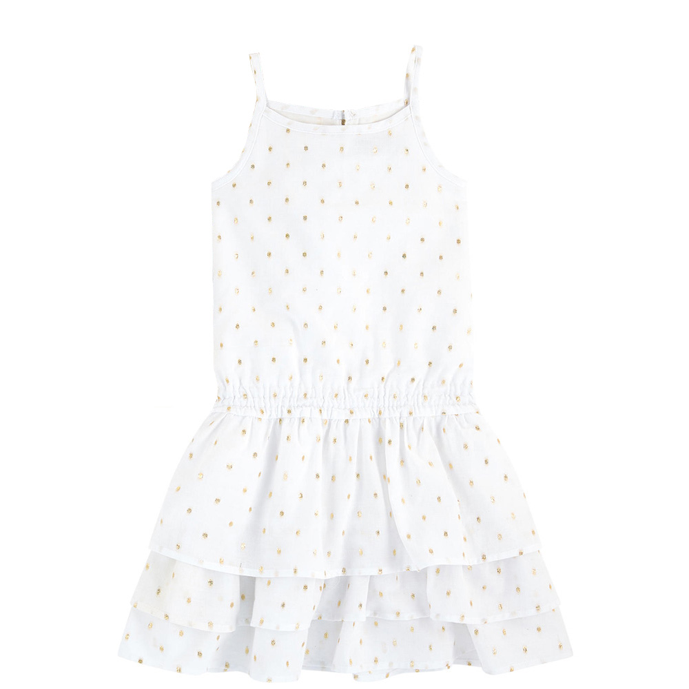 Girls cotton A-Line dress girls grid a line flared dress